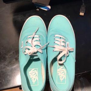 NWOT Size 6.5 Teal Vans